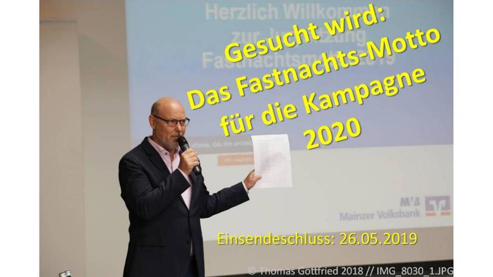 Gesucht wird: das Fastnachts-Motto für die Kampagne 2020