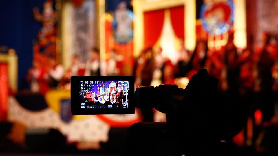 Kameraeinstellung bei TV-Aufzeichnung einer Mainzer Fastnachtssitzung