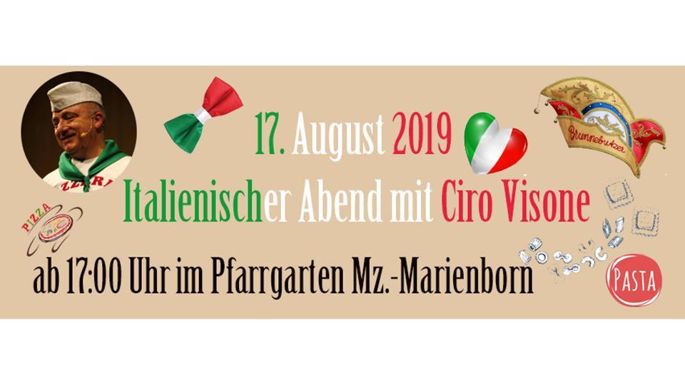 Jubiläumsfest Italienischer Abend mit Ciro Visone