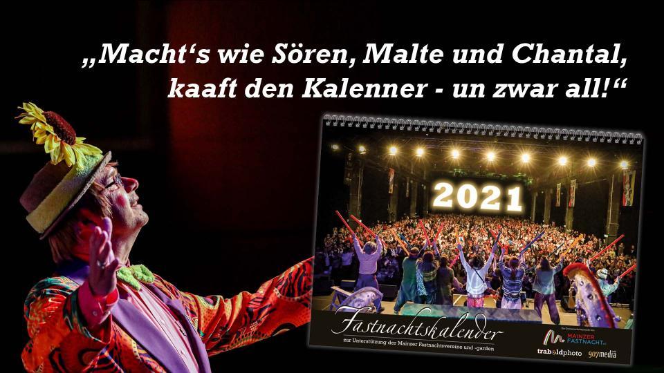 DER Kalender für alle Mainzer Närrinnen und Narrhallesen