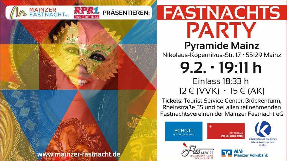 Große Fastnachtsparty in der Pyramide Mainz