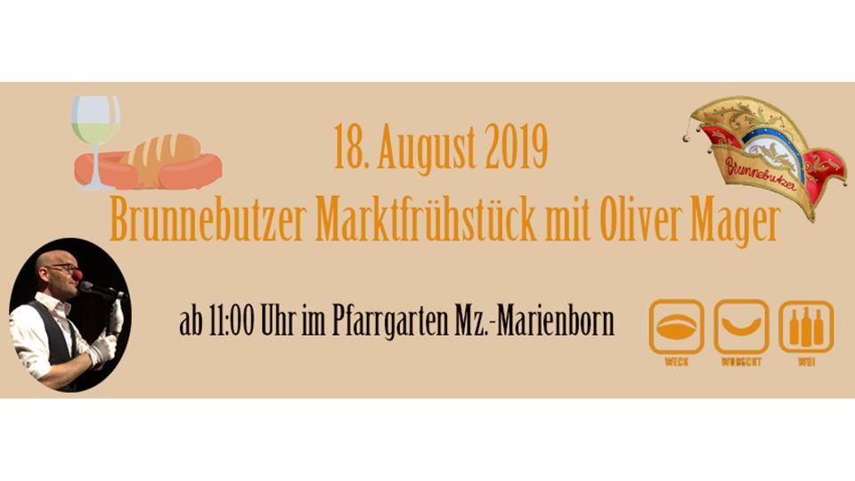 Jubiläumsfest Marktfrühstück mit Oliver Mager