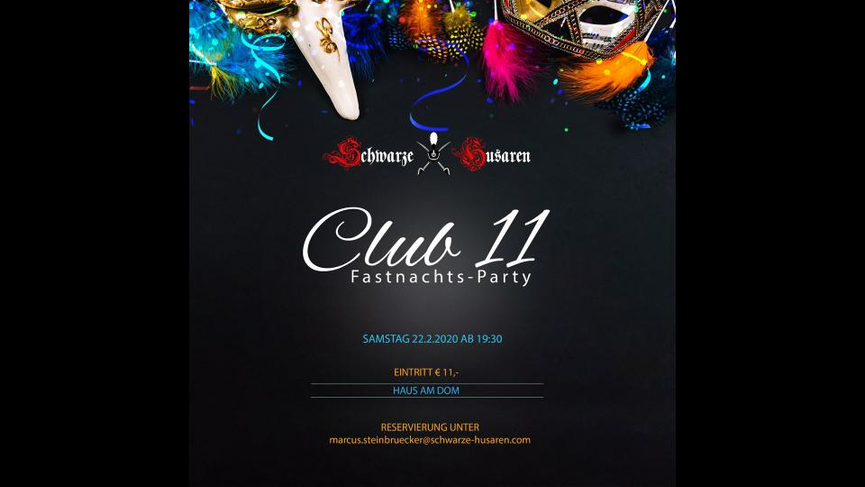 Club 11 Fastnachtsparty der SHM